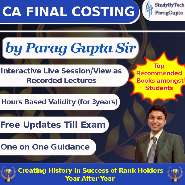 CA Final Costing-New Course-Live Virtual Classes SCMPE